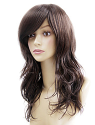 Capless Long Brown Curly Heat-resistant Fiber Wigs
