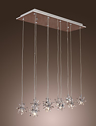 Max 20W Pendant Light ,  Modern/Contemporary Chrome Feature for Crystal Metal Dining Room