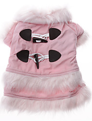 Dog Coat Pink Winter Solid
