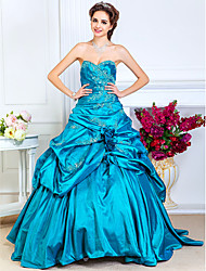 A-Line Strapless Sweetheart Floor Length Taffeta Prom Dress by TS Couture®