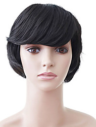 Capless Short Black Wavy High Quality Synthetic Japanese Kanekalon Parties Wigs