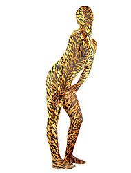 Disfraces Zentai de Texturas Ninja Zentai Disfraces de Cosplay Amarillo Un Color Leotardo/Pijama Mono / Zentai Licra Spándex Unisex