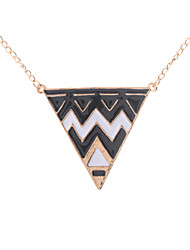 z&x® Ölauffang Legierung Dreiecksform Pullover Halskette