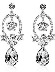 Magnifiques alliage Boucles d'oreilles en cristal Lustre en situation irrégulière