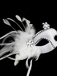 Masque Cosplay Fête / Célébration Déguisement Halloween Blanc Couleur Pleine Masque Halloween / Carnaval / Nouvel an Unisexe PVC
