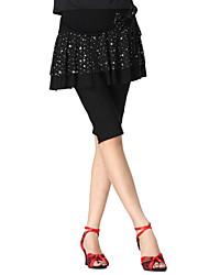 Dancewear Crystal Cotton Half Latin Dance Bottom For Ladies