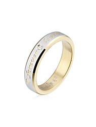 Charming Stainless Steel Forever Love Crystal Ring