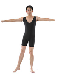 Men's Polyester Ballet Dance Unitard With Scoop Front & Back