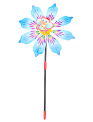 "10"" 6-Petal Flower Garden Spinner (Random Color)"