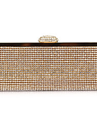 Women PVC Event/Party Evening Bag Gold / Silver