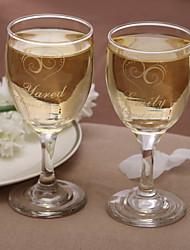 copa de vino personalizada clásico (juego de 2)