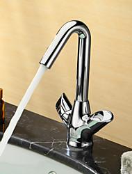 Sprinkle® par LightInTheBox - entraxe de mélangeurs en laiton lavabo robinet chromé-