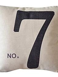 numéro sept coton / lin taie d'oreiller décoratif