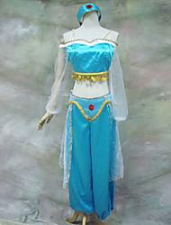 Aladdin Jasmine Persia Blue Suit Halloween Costume(3 Pieces)