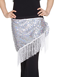 Dancewear Sequined With Tassels Performance Belly Hip Scarf For Ladies More Colors