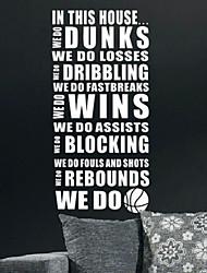Dans cette maison nous faisons Stickers Basketball