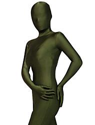 Disfraces Zentai Ninja Zentai Disfraces de Cosplay Verde Oscuro Un Color Leotardo/Pijama Mono / Zentai Licra Spándex UnisexHalloween /
