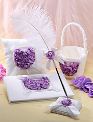 Lilac Rose Heart Designed Wedding Collection Set (4 Pieces)