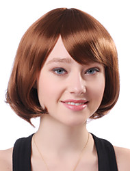 Capless Short Blonde Wavy High Quality Synthetic Japanese Kanekalon Wigs