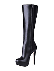 Women's Shoes Fashion Boots Stiletto Heel Knee High Boots with Zipper More Colors available