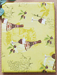 Printed Wine Glass Rectangular Polyester Table Cloth