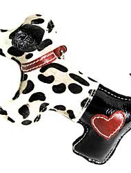 Cuir de vache Spotted Horse Hair Style Chien Puppy Forme Grincement Jouets