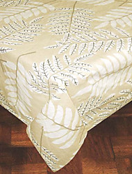 "71"" x 106"" Printed Leaves Rectangular 100% Cotton Table Cloth"