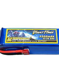 3300mAh 22.2V/6S bateria Lipo 50C para o modelo de RC