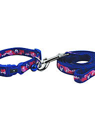 Pirate Pattern Collar with Little Bell and Leash for Dogs (Assorted Color)