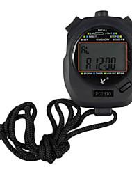 Noir Résistant aux chocs extérieurs portable avec fonction chronomètre compte à rebours