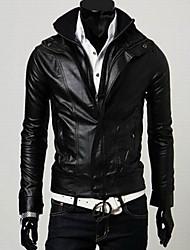 rr comprar magro pé da gola epaulet cor sólida pu jaqueta de couro
