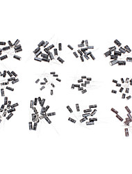 6981 Plastic & Copper Electrolytic Capacitors for DIY Project (Black & White, 120-Piece Pack)