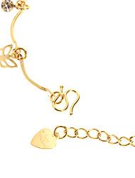 Rhinestone bowtie Studded banhado a ouro Bracelace