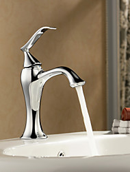 Sprinkle® by Lightinthebox - Solid Brass Chrome Finish Single Handle Centerset Bathroom Sink Faucet
