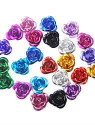 36PCS Multi-color 3D Metal Mini Cute Flowers Nail Decorations