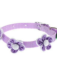 Dog Collar Flower Blue / Pink / Purple Textile