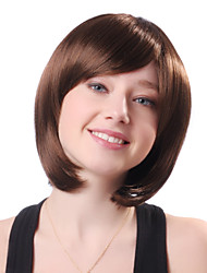 Capless Short Brown Straight High Quality Synthetic Japanese Kanekalon Hot Sale Wigs