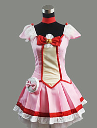Inspiré par PrettyCure Cure Happy Anime Costumes Cosplay Costumes Cosplay / Robes Mosaïque Rouge Manche CourtesTop / Jupe / Col /