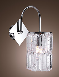Crystal Wall Light with Honeycomb Pattern