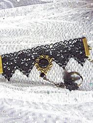 Handmade Black Lace Western Style Fashion Gothic Lolita Ring Bracelet