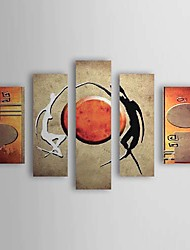 Hand Painted Oil Painting Abstract Set of 5 1211-AB0300