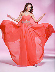 TS Couture® Prom / Military Ball / Formal Evening Dress - Watermelon Plus Sizes / Petite Sheath/Column Strapless / Sweetheart Floor-length Georgette