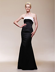 TS Couture Formal Evening Dress - Open Back Celebrity Style Trumpet / Mermaid Strapless Floor-length Satin with Pleats