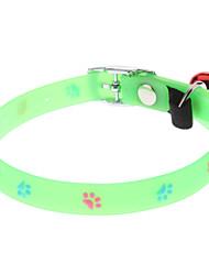 Gatos / Perros Collar Huella / Fluorescente Verde Plástico