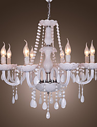 Max 40W Chandelier ,  Rustic/Lodge Electroplated Feature for Crystal Crystal Living Room / Dining Room