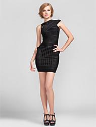 Mantel / Spalte kurz / Mini-Rayon Bandage Dress