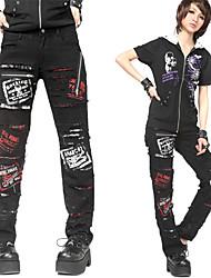 Diable Noir Coton Lolita Punk Pants