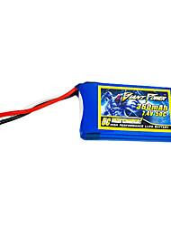 360mAh 7.4V/2S bateria Lipo 50C para o modelo de RC