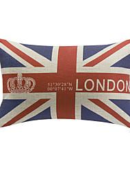 London Style Cotton/Linen Decorative Pillow Cover