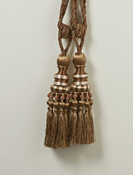 Brown Polyester Classic Tassel (One Pair)